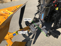 aratro voltaorecchio con ribaltamento a leva per trattore mod drp 35