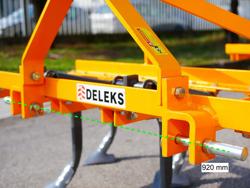 estirpatore per trattore larghezza 140cm a 7 ancore tiller per la lavorazione del terreno mod de 140 7