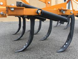 estirpatore con ancore e scalpelli a zampa d oca 165cm di lavoro coltivatore per trattrice agricola mod de 165 7 v