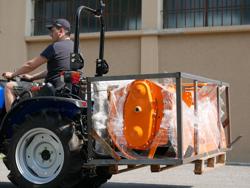 forca porta pallet per trattore tipo kubota iseki d 300