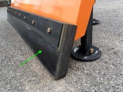 spazzaneve 175cm serie media attacco per furgone autocarro mod ln 175 j