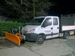 spazzaneve 200cm serie media attacco per furgone autocarro mod ln 200 j