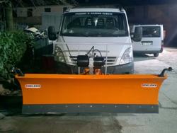 lama spazzaneve 220cm serie media attacco per furgone autocarro mod ln 220 j