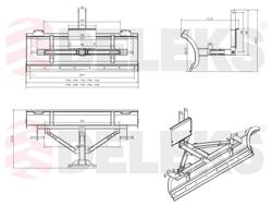 sgombraneve a piastra 130cm serie leggera per trattore mod lns 130 a