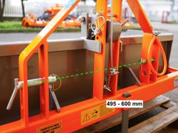 paletta 120cm con ribaltamento a leva per trattore pala meccanica mod prm 120 l
