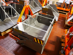 paletta da 120cm a ribaltamento idraulico per trattore mod pri 120 l