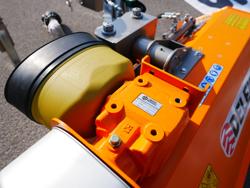 trincia fossi per trattore a mazze spostabile serie leggera mod volpe 140