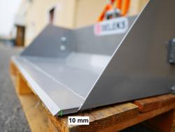 pala con benna ribaltabile da 140cm serie leggera e attacchi per muletto mod prm 140 lm