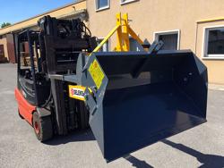 pala rinforzata da 160cm e carico 700kg ribaltabile per carrello elevatore mod prm 160 hm