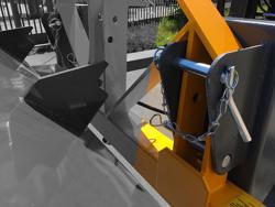 pala ribaltabile per carico merci con muletto serie pesante 180cm mod prm 180 hm