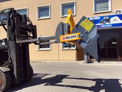 pala da 2 metri e portata 700kg con benna ribaltabile per carrello elevatore o trattore mod prm 200 hm