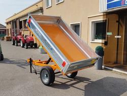 rimorchio agricolo 120x215 cm ribaltabile per trattore mod rm 12