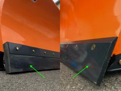 lama spazzaneve 250cm serie media attacco universale per minipala mod ln 250 m