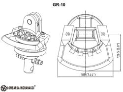 pinza oleodimanica da 4qli per legna con rotore 360 per miniescavatore mod dk 10 gr 10