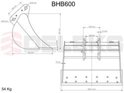 benna per miniescavatore bhb 600
