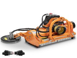 trinciatrice compatta a spostamento idraulico e disco interfilare per trattrici da frutteto mod interfila 130