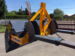 pala 2 m robusta ribaltamento idraulico attacchi per carrello elevatore mod pri 200 hm