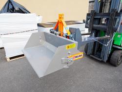 pala con ribaltamento idraulico per muletti 120cm leggera mod pri 120 lm