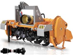 fresatrice per trattore tipo pesante con 150cm di lavoro utile spostamento idraulico mod dfh idr 150