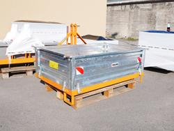cassoncino ribaltabile per transporto merci col trattore mod t 1400