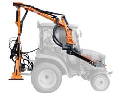 braccio decespugliatore idraulico con barra falciante potasiepi per trattore mod falco 130 h