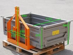 pala con spondine per trasportare merci col trattore t 2000