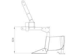 assolcatore a due elementi coltivatore per trattore mod da 140