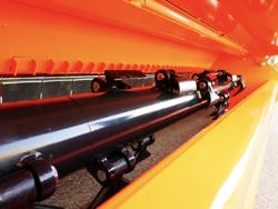 trincia argini a bandiera per trattore serie pesante 160cm di taglio moltiplicatore esterno mod alce 160