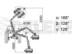 braccio decespugliatore idraulico per trattore trincia o barra tosasiepi mod condor 100