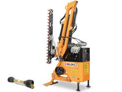 braccio decespugliatore idraulico per trattore trincia o barra tosasiepi mod airone 130 tr