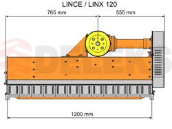 trinciaerba a mazze per trattore tipo carraro 120cm di taglio trincia erba e sarmenti lince 120