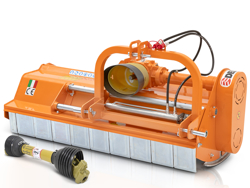 trincia erba e sarmenti a mazze spostamento idraulico 160cm di taglio per trattore mod leopard 160 sph