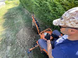 retroescavatore portato con benna per trattore agricolo mod drs 1000
