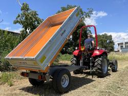 rimorchio agricolo trilaterale omologato per trattore mod rm 14 t3