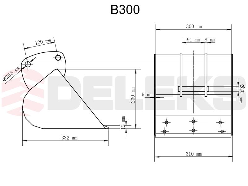 benna-per-miniescavatore-b-300