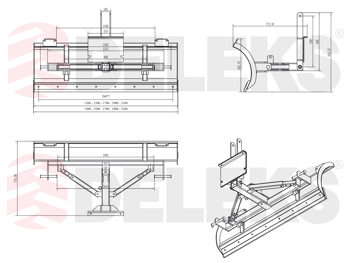 deleks-sgombraneve-frontale-orientabile-serie-leggera