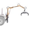 gru forestali per trattore con pinza oleodinamica e rotore girevole 360 per la movimentazione dei tronchi della legna
